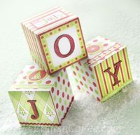 A pretty paper craft for Christmas. You could also spell out PEACE or MERRY or SNOW. This is an easy one, too.