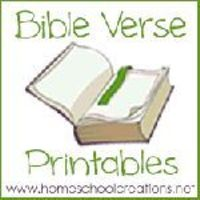 Bible verse printables for preschool and elementary aged children from Homeschool Creations
