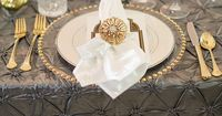 art deco place setting | Andi & Zoe Photography | Glamour & Grace