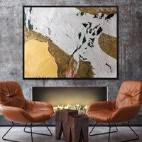 Abstract art painting acrylic heavy texture yellow oil painting on canvas art large Wall Pictures Home Decor cuadros abstractos hand Painted $129.00