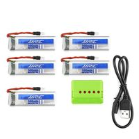 Original JJRC Battery Charging Set 5 x 3.7V 500mAh LiPo + WSX 1 to 5 Balance Charger / USB Cable for H37 Quadcopter $32.93