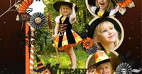 At the end of Hallow's eve, there is one more thing to do: to make your memories last forever ! Make cute Halloween scrapbook with all your photos from last nig