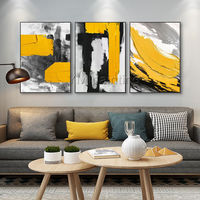 Abstract Acrylic framed wall art Paintings On Canvas black painting original extra Large texture painting palette knife cuadros abstractos $116.47