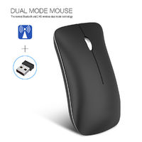 HXSJ T23 1600DPI Rechargeable Bluetooth 4.0 + 2.4GHz Wireless Optical Mouse Slim Mouse for Office