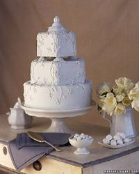 """See the """"Ironstone Wedding Cake"""" in our Wedding Cakes Inspired by China Patterns gallery"""