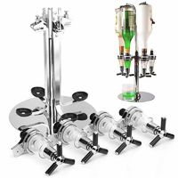 4 Heads Stainless Steel Wine Juice Cocktail Stand Drinks Dispenser Holder $55.99