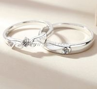 Custom Angel Wings Couples Promise Rings for Two https://www.gullei.com/with-you-forever-zircon-couple-rings.html