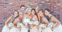 Pink Sequin Winery Wedding