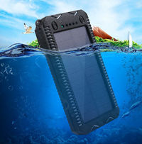 Bakeey 8000mAh LED Flashlight Solar Fast Charging Waterproof Power Bank Case For iPhone XS 11 Pro Huawei P30 Pro Mate 30 5G Xiaomi 9Pro Redmi K30 S10+ Note10 5G