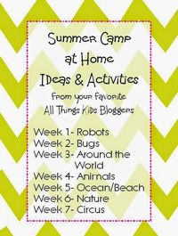 Circus theme for backyard summer camp or circus learning unit for kids.