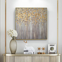 Gold art tree painting abstract flower Modern art painting on canvas original art framed painting Wall Picture home decor cuadros abstractos $148.75