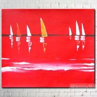 Sailing Boats On Canvas Hand Painted Oil Painting