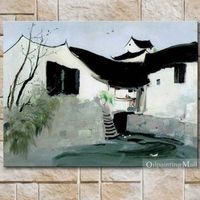 Reproduction Modern Chinese Oil Painting By Wu Guanzhong