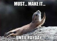 That's so going to be me now that we're switching to bi-weekly pay at work.