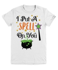 I Put A Spell On You Halloween Light Youth T-Shirt $22.95