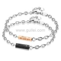 Gullei.com His and Hers Promise Bracelets Birthday Gift