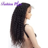Fashion Plus Full Lace Human Hair Wigs With Baby Hair For Black Woman Brazilian Curly Hair Wig Pre Plucked Bleached Knots Wigs $547.29