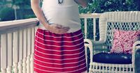 DON'T need a maternity skirt, but seriously, how cute? (From a men's polo.)