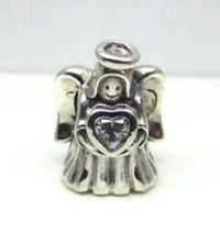 Pandora Charms, Christmas Loving Angel Charm Bead Pandora Charms, Authentic $60.00