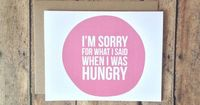 Im sorry card - humorous card - funny Im sorry card blank card - with kraft brown envelope. $4.25, via Etsy.