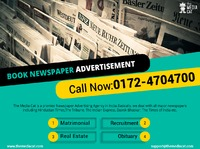 In a very simple and fast process, you can Book Newspaper Advertisement online through TheMediaCat. They have a professional team who are well aware of the Newspaper Advertising release and they offer discounts on advertisement rates. This advertising age...