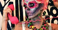 Makeup Artist and Model Lindsay Hancock brings her magical sugar skull look to life with these new photos, just in time for Halloween on October 31st and The Me