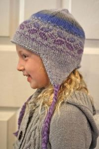 Holiday Earflap Hat - Free Knitting Patterns by April Fehrman
