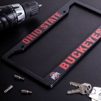 Ohio State Buckeyes Black License Plate Frame Cover - NCAA Car Accessory - Slim Design $19.99