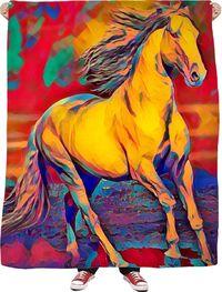 Akhal Horse Fleece Blanket $65.00
