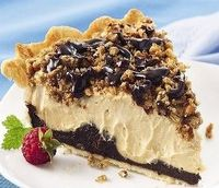 Peanut Butter Chocolate Pie: Ingredients: 1 (5 oz.) pkg. Jell-O Instant Vanilla Pudding 2 cups cold skim milk 1/2 cup whipping cream, whipped 1 1/4 cup creamy peanut butter 1 pre-baked pie shell of your choice (use a ready made, refrigerated c...