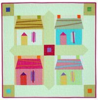 Download and print Pam Rocco's free pattern for Caribbean Houses.