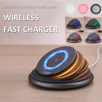10W 9V Wireless Qi Fast Charger Night Light Phone Charging Pad For Samsung S8 S9 Note 8