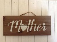 Mother Wood Pallet Sign, Mother's Day Gift For Mom, Birthday Gift For Mom, Rustic Farmhouse Chic Home Decor Wood Sign, Mother / Mom Wall Art $15.00