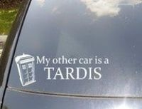 My other car is a Tardis. I was just saying the other day that I was going to do this!