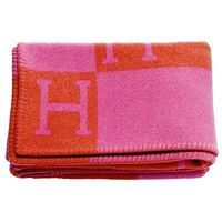 The Millionairess of Pennsylvania: Hermes blanket. pink and orange. We need to keep warm around here!