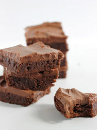 classic fudge brownies with milk