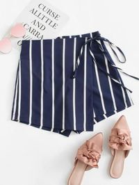 Striped Knot Side Shorts $28.50