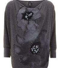 Dorothy Perkins Womens Izabel London Grey Zipped Flower Print Grey zipped flower print top with a cowl neckline and 3/4 sleeves. Length 60.5cm. 60% Polyester,35% Viscose,5% Elastane. Cold hand wash. Do not dry clean. http://www.comparestorepri...