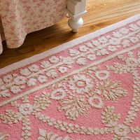 Pink Lace Rug : Anne Catherines Flower Garden at PoshTots LOVE IT! Could I find something similar and cheap garage saleing? $691