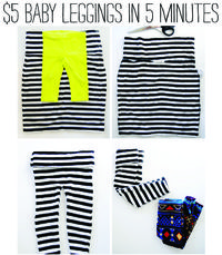 5 minutes, 5 steps for super cute baby leggings!