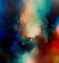 Abstract, original, contemporary, expressionist painting 'Ancient Origins' on canvas by Simon Kenny $7900.00
