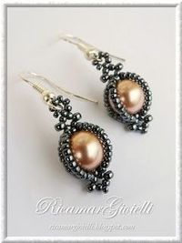 earring tutorial, brick stitch and beads tutorial.