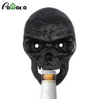 Wall Bottle Opener Skull Shaped Beer Opener Wall Mounted Bottle Opener with 2pcs Screw Kitchen Tool Home Bar Wall Decorative $18.83