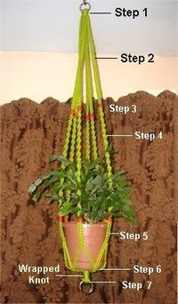 Free pattern for Basic Plant Hanger