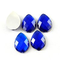 Pack of 100 Teardrop Cabochons. Different Colours Rhinestones. 14mm x 10mm £6.99