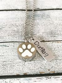 Pet loss - Hand stamped necklace - Pet memorial $56.00