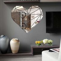 Heart Acrylic Mirror Wall Stickers $29.73