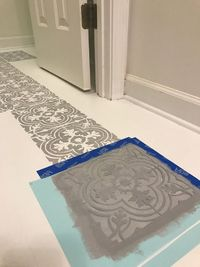 So I know I'm not the only one that has grungy, dingy, or even pink linoleum floor in their home. We have all been there- hating on our ugly outdated floors. We