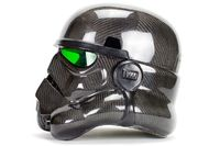 Leonard Carson of San Diego Composities designed a carbon fiber Stormtrooper helmet that is most likely more technically advanced than the helmet offered by Sta