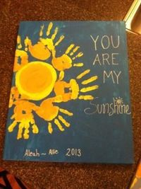Is it sad that I want to do this with my kids for my Mother's Day present? . Kids handprint canvas pictures....good times :) by Karen Wirtz